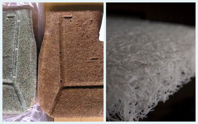 左:ベンツとヤシ繊維 右:N700とブレスエアー